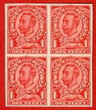 """1912 1D Scarlet morire (II). un ottimo blocco di quattro delle """"John Allen LIBRO"""