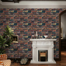 45CM*10M PVC 3D Bricks Wallpaper Rolls Self Adhesive Wall Sticker Home Decor
