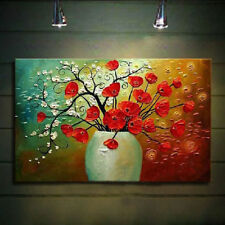 Preety Large Modern Abstract Wall Art Oil Painting On Canvas,Flowers(No Frame)