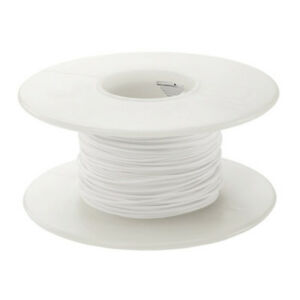 100ft Wire Wrap White Solid 30AWG 30ga Kynar silvered copper wire L5