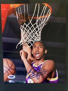 🔥🔥 Kobe Bryant Signed 8x10 Photo PSA/DNA Autographed Los Angeles Lakers MAMBA