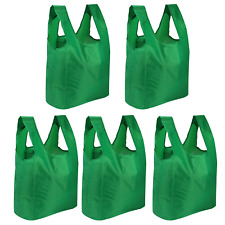 Set of 5 Reusable Grocery Bags Packable Shopping Tote Bags Pukkr