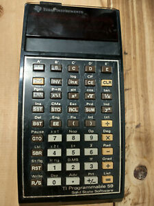 TI-59 Calculator, works. Battery included.