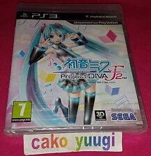 HATSUNE MIKU PROJECT DIVA F 2nd SONY PS3 VERSION FRANCAISE NEUF NEW PAL VERSION