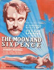 GEORGE SANDERS THE MOON AND SIXPENCE ORIGINAL UK CINEMA MOVIE TRADE AD