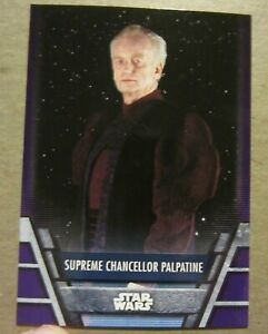 Topps Star Wars Holocron, Supreme Chancellor Palpatine, Purple Parallel, 1 of 10