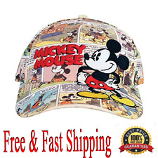 Disney Cap Adult Hat Comic Print Mickey Original