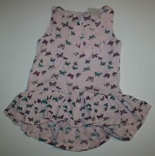 Siguiente NUEVO gb mariposa Hi Low FRUNCIDO Dobladillo Vestido Túnica Camisa