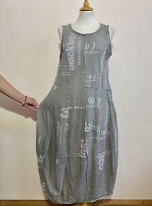 RUNDHOLZ Black Label Cotton Grey/Beige Balloon Dress ,Size:L