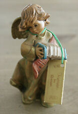 """Fontanini by Roman Dep Italy Angel 664 1994 Figurine with Hang Tag 4"""" Tall"""