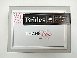 """40 New Brides """"Thank You"""" Cards"""