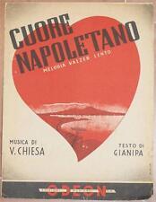 VITTORIO CHIESA CUORE NAPOLETANO VALZER TESTO GIANIPA COPERTINA FERR PIANOFORTE