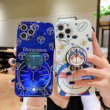 Cartoon Doraemon cat Stand Holder case Cover For iPhone 12 11 Pro Max XS XR 7 8+