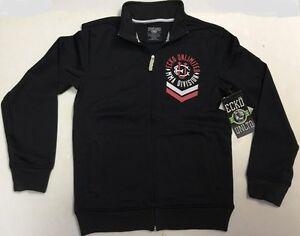 Ecko Unltd Jacket MMA Division Full Zip Black Polyester Cotton Jacket Adult SALE