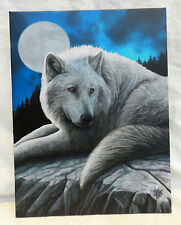 Wolf by Moonlight Canvas Print - Lisa Parker Guardian of the North Print - BNIB