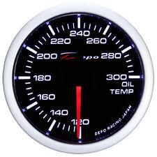 52mm Depo Racing universal Oil Temperature White Amber Red WA5247B