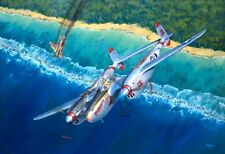 WWII MILITARY AVIATION ART PRINT CANVAS P-38 LIGHTNING