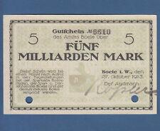 BOELE 5 Milliarden Mark 1923 II / XF