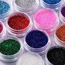 15 Colors DIY Nail Art Decoration Powder Glitter Dust Acrylic UV Gel Tips Choice