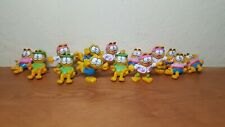 Vintage Garfield cat PVC toy figures lot of 14 Happy Meals toys Hawaiian