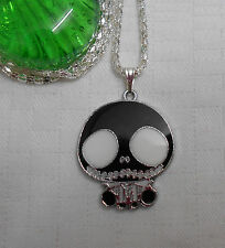 Kids childrens Jack The Nightmare Before Christmas necklace silver plated black