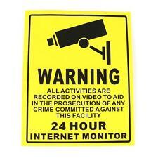 Cámara De Seguridad Cctv Sistema de señal de advertencia de la etiqueta engomada de la calcomanía vigilancia 200mmx250mm