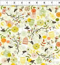 In The Beginning September Light by Linda Enche 4LEA1 Cotton Fabric FREE US SHIP