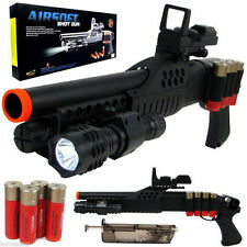 SPRING AIRSOFT PUMP SHOTGUN SNIPER RIFLE GUN SIGHT SCOPE LIGHT WITH 6MM BBS BB