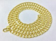 CZ Cuban Gold Plated Sterling Silver 30 inches Chain 83.8g