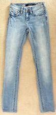 LEE Womens Skinny Leg Cotton Pale Blue Jeans 6 XS