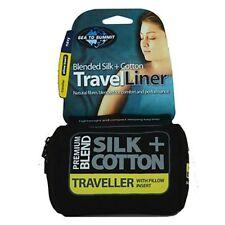 Sea To Summit Silk Cotton Traveller Liner schwarz Schlafsack Schalfsackeinlage