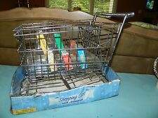 Vintage Metal Shopping Cart Basket w Play Groceries American Girl Doll Size NEW!