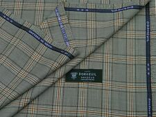 DORMEUIL 'AMADEUS 365 JACKETING' BROWN/WHITE, CHECK, WOOL SUITING FABRIC 2.5M