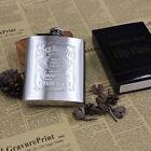 Pocket Hip Flask Whiskey Wine Pot Bottle Flagon Gift Emboss Stainless Steel