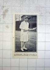 1928 Tennis Love Match, Helen Wills Engaged To Shander Moody Jun.