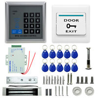 1100 LBs Kit Magnetic Access Control Electric Door Lock ID Card Password System