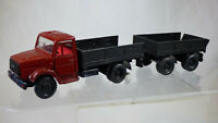 Vintage 1:43 ZIL 4331 USSR Articulated Lorry Truck Train Trailer Made in Russia