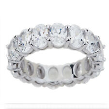 7.60 Ct Beautiful Oval Cut D/VVS1 Eternity Band Ring 14K White Gold Over