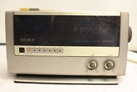 SONY DIGIMATIC IFC-C820L CLOCK RADIO FM/MW/LW  3 BANDS VINTAGE SPARE & REPAIR