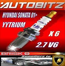 FITS HYUNDAI SONATA 2.7 BRISK SPARK PLUG X6 100K GUARANTEE YYTRIUM