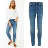 M&S Marks and Spencer Per Una Womens Denim Straight Slim Leg Jeans