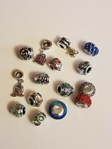 15 x NEW 925 STERLING SILVER CHARMS FOR BRACELETS FITS ALL WELL KNOWN CHAINS