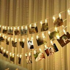 20 Warm White Battery Photo Peg Clip Shape LED String Light Fairy Window Decor