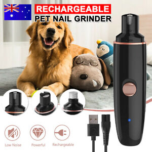 Rechargable Electric Dog Toe Nail Grinder Pet Cat Claw Grooming Trimmer Clipper