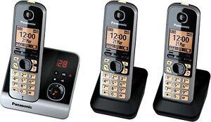 Panasonic KX-TG6723GB Trio Schnurlostelefon 3 Mobilteile Anrufbeantworter B-Ware