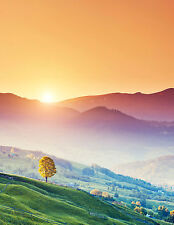 SUPERB COUNTRY SUNRISE LANDSCAPE CANVAS #324 QUALITY FRAMED WALL ART PICTURE A1