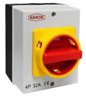 32A Rotary Isolator Switch 32amp 4 Pole 230V-415V