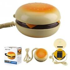 2018 Novelty Hamburger Cheeseburger Corded Telephone Cool Creative Burger Phones