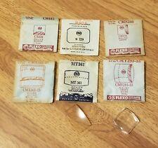 (6) Vtg NOS 1950-60's Square G-S FLEXO WATCH CRYSTAL LOT-Lucite/Plastic-Bulova