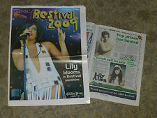 2 X ISLE OF WIGHT SEPTEMBER 2009 FESTIVAL SUPPLEMENTS LILLY ALLEN MASSIVE ATTACK